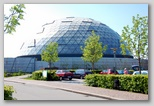 The largest dome at Randers Regnskov (Randers rain-forest)