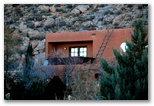 A Santa Fe-style house  near the foothills in Albuquerque