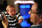 June meets grandfather Hansen for the first time