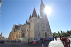 Matthias Church, which is perched high on the Buda side of town with fantastic views of the Pest side