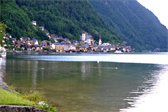 Hallstatt, as seen from the playground we frequented