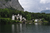 The mysterious castle opposite from Hallstatt...