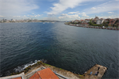 The two sides of Istanbul (Western on the left, Asian on the right) as seen from