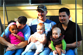 The dads: Karrie with Claire, Troy with Cora, and me with Ellen