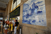 Tile murals in the São Bento station in Porto