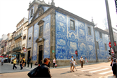 Church covered in tile in Porto