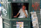 Vendor in the old quarter of Porto
