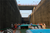 Rising in Carrapatelo lock -- the highest of five locks on the Douro river