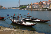 'Rabelo' boats, traditionally used to transport Port wine casks (but now used only to transport tourists)