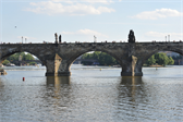 The Charles Bridge, which dates back to 1357 and was the only bridge connecting the old and new parts of Prague until 1841