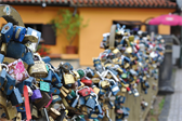 Padlocks on a bridge near the Charles Bridge