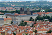 The Prague Castle from Petrín Lookout Tower