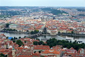 Prague (and the Charles Bridge) from the Petrín Lookout Tower
