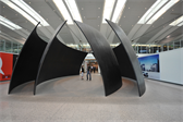 An acoustic sculpture at the Toronto airport