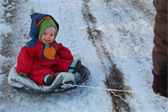 Ellen thought that sledding was mildly entertaining