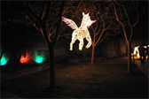 Part of the 'River of Lights' display at the Albuquerque Botanic Garden