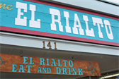 El Rialto is probably the most popular restaurant in town.