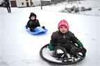 Siv and Freja go for a ride